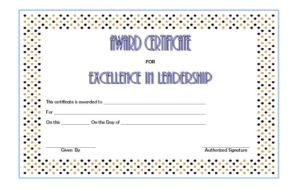 Educational Leadership Graduate Certificate Free Printable 2 inside Outstanding Student Leadership Certificate Template Free