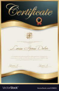 Elegant Certificate Template Royalty Free Vector Image for Elegant Certificate Templates Free