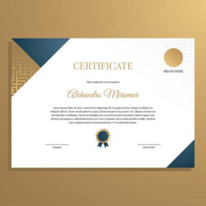 Elegant Certificate Template Vector – Download Free Vectors within Unique Elegant Certificate Templates Free
