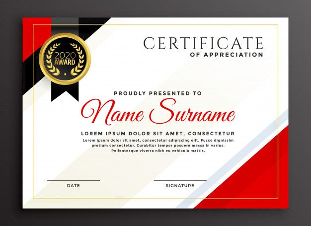 Elegant Diploma Certificate Template Design Free Vector inside Design A Certificate Template