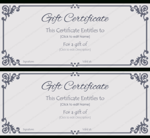 Elegant Gift Certificate Template #Gift #Certificate pertaining to Present Certificate Templates