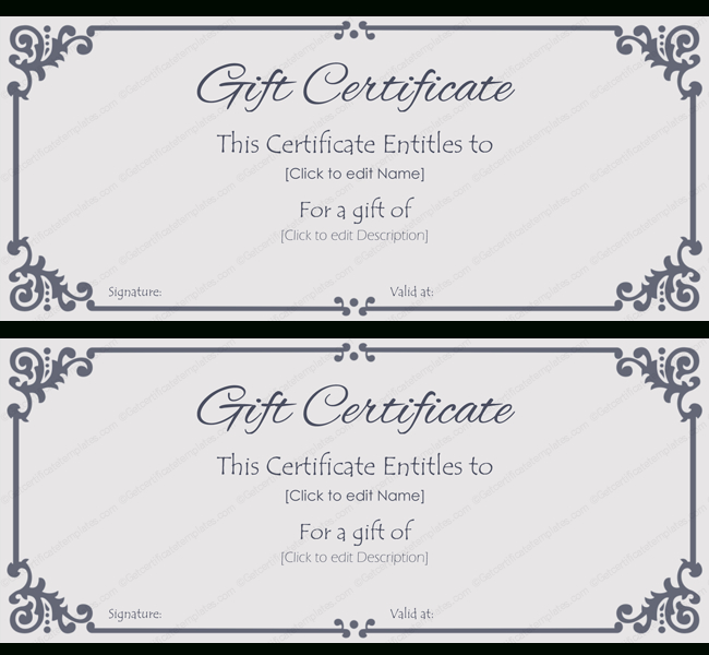 Elegant Gift Certificate Template #Gift #Certificate with regard to Elegant Gift Certificate Template