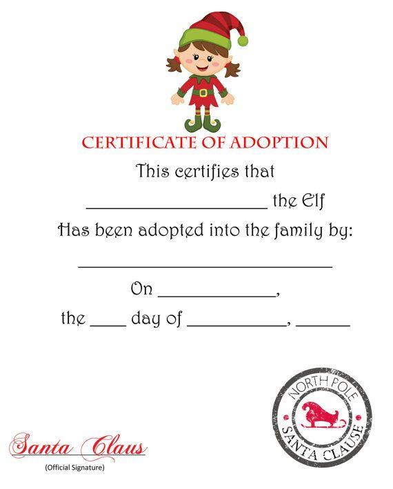 Elf On The Shelf Passport Pdf Elf On The throughout Quality Elf Adoption Certificate Free Printable
