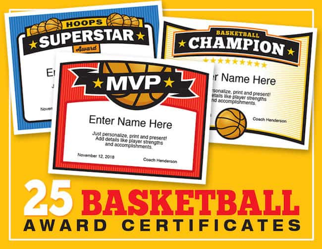 Elite Basketball Award Certificate Templates, Boys And Girls with Unique Basketball Mvp Certificate Template