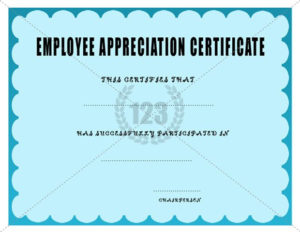 Employee Appreciation Certificate Template | Certificate throughout New Employee Recognition Certificates Templates Free