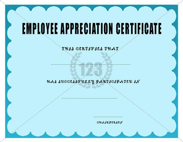 Employee Appreciation Certificate Template | Certificate throughout New Employee Recognition Certificates Templates Free