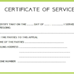 Employee Certificate Of Service Template (6) - Templates inside Employee Certificate Of Service Template