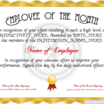 Employee Of The Month Certificate Designer | Free Intended For Employee Of The Month Certificate Template Word
