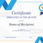 Employee Of The Month Certificate Regarding New Employee Certificate Template Free 10 Best Designs
