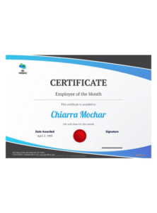 Employee Of The Month Certificate Template – Pdf Templates with regard to Employee Certificate Template Free 10 Best Designs