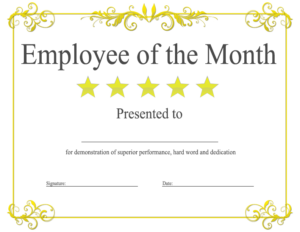 Employee Of The Month Certificate Template With Picture (2 inside Employee Of The Month Certificate Template With Picture