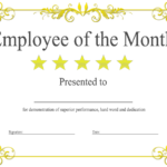 Employee Of The Month Certificate Template With Picture (2 Intended For Employee Certificate Template Free 10 Best Designs