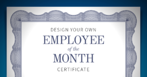Employee Of The Month Certificate | When I Work pertaining to Employee Of The Month Certificate Template