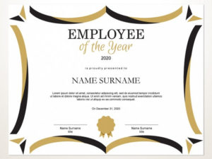 Employee Of The Year Editable Template Editable Award Employee Of The Year  Printable Template Pdf Instant Download D129 in Employee Of The Year Certificate Template Free