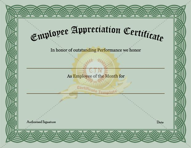 Employee Recognition Certificate Template Appreciation inside Unique Employee Appreciation Certificate Template