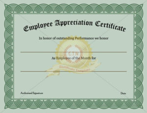 Employee Recognition Certificate Template Appreciation throughout New Certificate Of Employment Templates Free 9 Designs