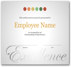 Employee Recognition Certificate Template Excellence Award intended for Free Employee Appreciation Certificate Template