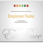 Employee Recognition Certificate Template Excellence Award Pertaining To New Employee Recognition Certificates Templates Free