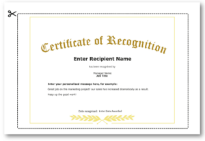 Employee Recognition Certificate Templates – Free Online Tool inside Unique Template For Recognition Certificate