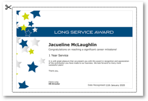 Employee Recognition Certificate Templates – Free Online Tool intended for Long Service Certificate Template Sample