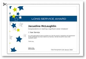 Employee Recognition Certificate Templates – Free Online Tool regarding Long Service Award Certificate Templates