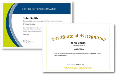 Employee Recognition Certificate Templates - Free Online Tool throughout Employee Certificate Template Free 10 Best Designs