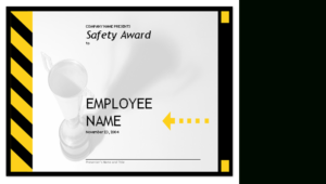 Employee Safety Award with regard to Safety Recognition Certificate Template