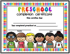 End Of The Year Completion Certificates – Preschool Thru Within Quality Kindergarten Certificate Of Completion Free