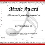 End Of The Year Music Awards: *Editable* Music Award Inside Best Choir Certificate Template
