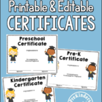 End Of Year Activities + Certificates – Prekinders Intended For Editable Pre K Graduation Certificates