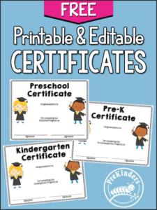 End Of Year Activities + Certificates – Prekinders with regard to Preschool Graduation Certificate Template Free