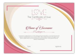 Entry #9Slp2008 For Design A Love Certificate Template pertaining to Love Certificate Templates