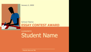 Essay Contest Award for Best Essay Writing Competition Certificate 9 Designs
