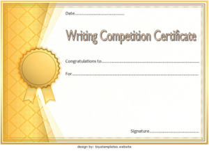 Essay Writing Competition Certificate Template Free 1 throughout Writing Competition Certificate Templates