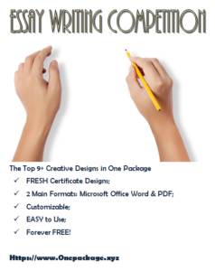 Essay Writing Competition Certificate: The Creative Design With Regard To Best Essay Writing Competition Certificate 9 Designs