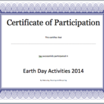 Event Participation Certificate Template – Free Template Intended For Fresh Certificate Of Participation Word Template