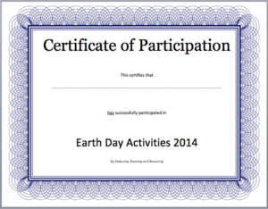 Event Participation Certificate Template – Free Template with regard to Free Templates For Certificates Of Participation
