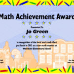 Excel Math: Printable Math Certificates And Awards For Fresh 9 Math Achievement Certificate Template Ideas