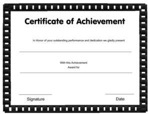 Excellent Sales Achievement Certificate Template Inside for Sales Certificate Template