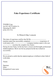 Experience Letter Format In Word – Debbycarreau within Template Of Experience Certificate