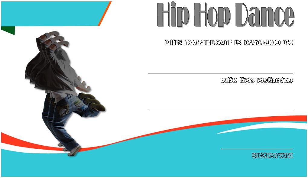 Extraordinary Hip Hop Dance Certificate Template Free for New Hip Hop Dance Certificate Templates