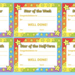 👉 Star Of The Week Award Certificate For Good Behaviour With New Star Of The Week Certificate Template