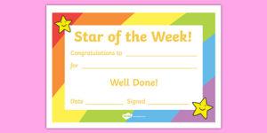 👉 Star Of The Week Certificate | Teaching Resources for New Star Of The Week Certificate Template