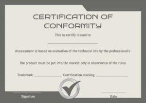 🥰 Blank Printable Certificate Of Conformity [Coc] Form within Best Certificate Of Conformity Template