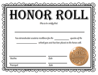 🥰 Free Sample Of Certificate Of Honor Template🥰 pertaining to Certificate Of Honor Roll Free Templates