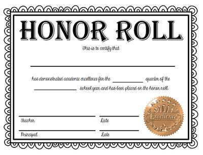 🥰 Free Sample Of Certificate Of Honor Template🥰 with regard to Honor Roll Certificate Template