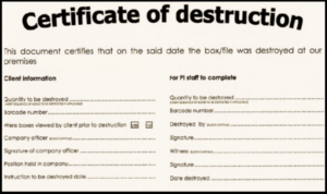 🥰5+ Free Certificate Of Destruction Sample Templates🥰 Pertaining To New Free Certificate Of Destruction Template