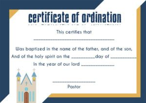 🥰Free Sample Certification Of Ordination Templates🥰 for Certificate Of Ordination Template