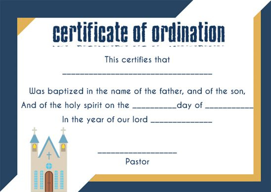 🥰Free Sample Certification Of Ordination Templates🥰 regarding Ordination Certificate Template