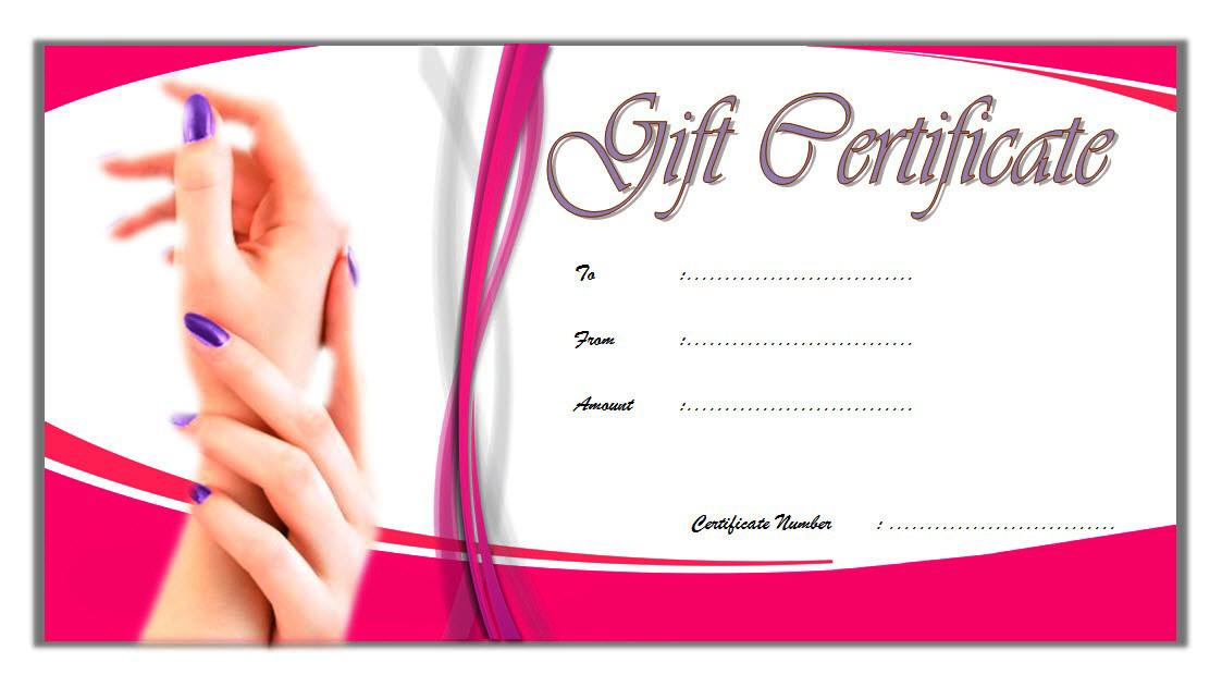 Face Salon Gift Certificate Template Free 2 | Printable Gift regarding Best Nail Salon Gift Certificate Template